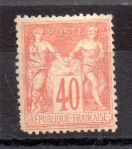 France 1876 40c Peace mint MH SG222 WS6740