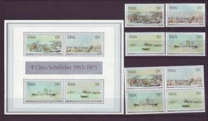 Z401 Jlstamps 1975 south west africa set + ss + blk,s 4 mnh #380-3 and 383a&b