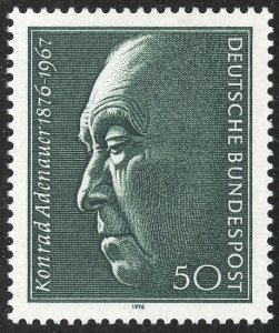 Germany Scott 1205 MVFNHOG - Konrad Adenauer (1876-1967) - SCV $1.75