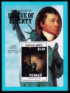UK STAMP TUVALU 1986 CENTENARY STATU OF LIBERTY MNH S/S STAMP COLLECTION LOT #2