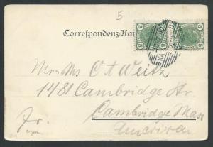 CZECHOSLOVAKIA AUSTRIA 1907 postcard ex KARLSBAD...........................61853