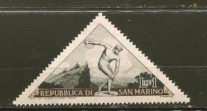 San Marino 327 Discus Thrower Triangle MNH