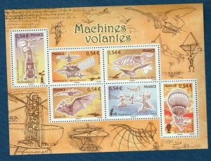 2006 FRANCE - SG: 4228/33 - FLYING MACHINES - UNMMOUNTED MNT