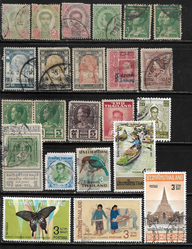 COLLECTION LOT OF 23 THAILAND STAMPS CLEARANCE