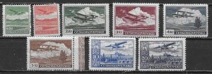 Czechoslovakia C10-17 1930 Airmails set MNH (z2)