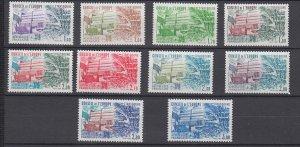 J29320, 1981-4 france set mnh #1o27-36