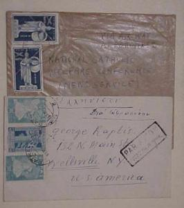 GREECE  COVER #C73 x2 cat.$34.00 also #465,468 cat.$30.00