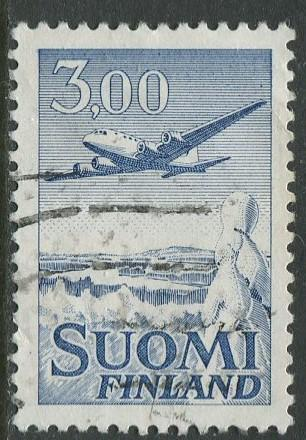Finland - Scott C9 - Air Post -1963 - Used - Single 3m stamp