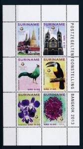 [SU1976] Suriname Surinam 2013 Stamp Expo Bangkok Birds Souvenir Sheet MNH