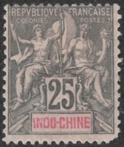 Indo China #13 Mint Hinged 35% of SCV $20 **FREE SHIPPING**