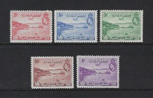 PAPUA SCOTT #C5-C9 1939-41 AIR MAILS- MINT LIGHT HINGED