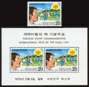 Korea 1170-1170a mnh stmp+s/s set/2 1979 -Int'l Year Child