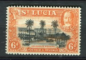 ST. LUCIA; 1936 early GV issue fine Mint hinged 6d. value