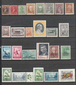 ARGENTINA *85 DIFFERENT MNH 107/OD29a SEE DESCRIPTION AREA 2019 SCV $36.45