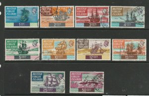 British Virgin islands 1970 Ships 10 vals to 50c Used, Mainly fine