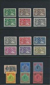 NYASALAND 1938-44 SET OF EIGHTEEN MM SG 130/43 CAT £225