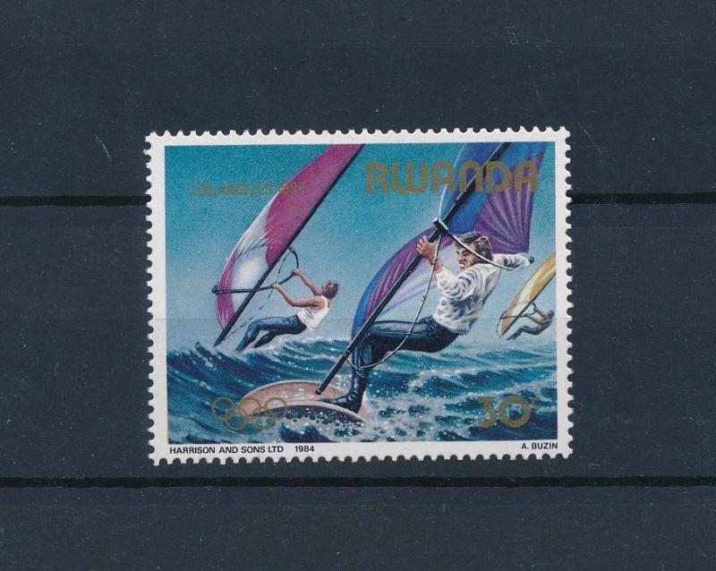 [46346] Rwanda 1984 Olympic games Los Angeles Wind surfing from set MNH