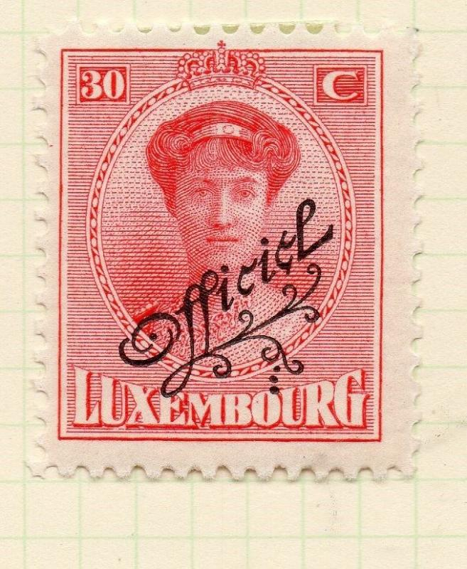 Luxembourg 1921-22 Early Issue Fine Mint Hinged 30c. Official Optd 253203