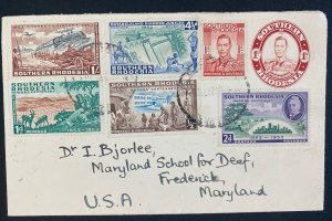 1953 Southern Rhodesia First Day Cover To Frederick MD Usa Rhodes Centenary Stam