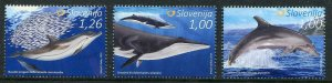 HERRICKSTAMP NEW ISSUES SLOVENIA Sc.# 1190-92 Dolphins & Whales