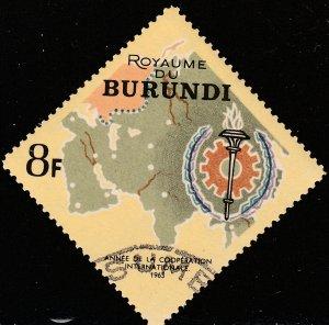 BURUNDI 136, MAP OF ASIA. USED. VF. (340)