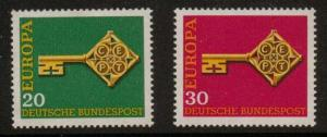 GERMANY SG1460/1 1968 EUROPA MNH