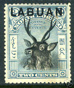 LABUAN Sc# 73 MH FVF Blue & Black Antler Deer