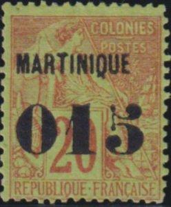 Martinique 1887 SC 8 Mint