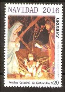 URUGUAY 2016, ART,CHRISTMAS,RELIGION,SET,YV 2820,MNH