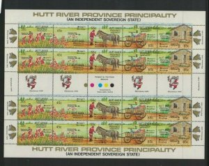 MCR5) Hutt River Province 1985 Christmas Overprint Sheet MUH