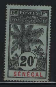 SENEGAL, 63, NO GUM, 1906, STAMPS OF 1892 SURCHARGED