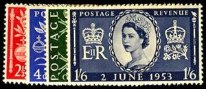 GREAT BRITAIN-a-d-Post 1936 ISSUES (234 on) 313-16  Mint (ID # 41302)