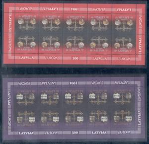 Latvia Sc 379-80 1994 Europa stamp set in sheets mint NH