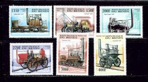 Benin 1022-27 MNH 1997 Locomotives