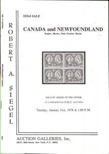 Canada and Newfoundland: Singles, Blocks, & Plate Number ...