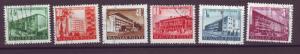 J10892 JL Stamps @20%scv 1951 hungary set6 postally used buildings