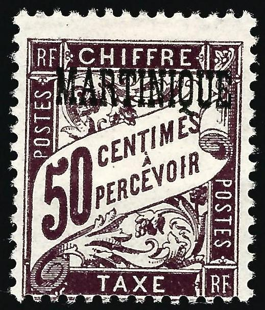 Martinique (Scott J21) Mint OG Fine hr...Buy before prices go up!