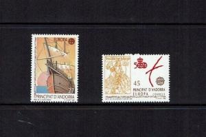 Andorra: 1992, 500th Anniv. Columbus  Discovery of America, Europa, MNH set