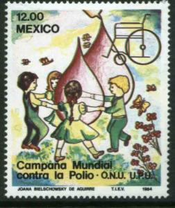 MEXICO 1345 Fight against Polio MINT, NH. VF.