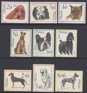 Poland 1115-23 Dogs mnh