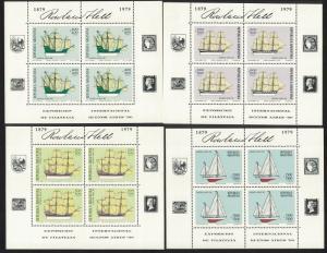 Argentina 'Buenos Aires '80' International Stamp Exhibition 4v Sheetlets