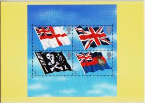 Great Britain. 2001 Flags and Ensigns. PHQ Cards(5) Unused