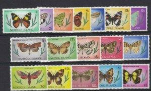 NI96) Norfolk Island 1977 Butterflies MUH