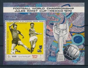 [60425] Yemen YAR 1970 World Cup Soccer Football Mexico Perforated MNH Sheet
