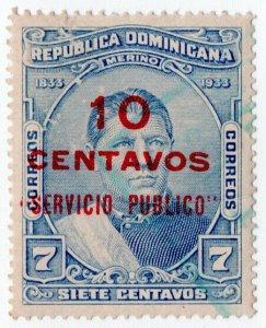 (I.B) Dominican Republic Revenue : Public Service 10c on 7c OP