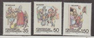 Liechtenstein Scott #952-953-954 Stamps - Mint NH Set