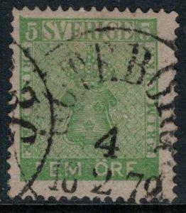 Sweden #6  CV $20.00  Goteborg, Sweden Feb. 18, 1872 cancellation