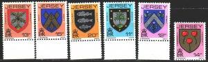 Jersey. 1981. 264A-69A. Coats of arms. MNH.