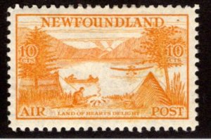 AM15, NSSC,10¢ Land of Hearts Delight, yellow orange, perf. 11.5, Newfound...