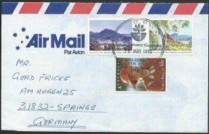 AUSTRALIA 1996 cover to Germany - nice franking - Sydney Pictorial pmk.....47148